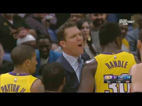 Luke Walton Gets Ejected In Game Vs Pelicans! Lakers Vs Pelicans!