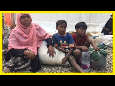 Life of aid workers helping rohingya muslims at bangladesh's refugee camps