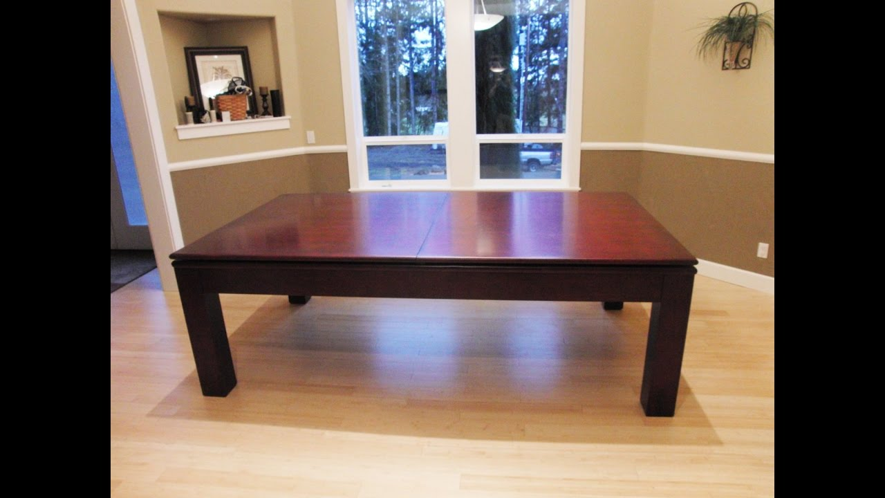 pool table dining table combo - youtube