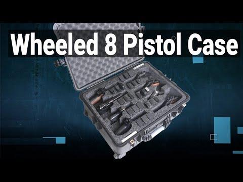 Wheeled 8 Pistol Case - Video