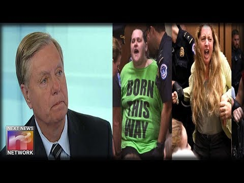 Lindsey Graham Turns To the Camera, REVEALS HORRIBLE Thing The Dem Mob Did To Him During Kav-Hearing