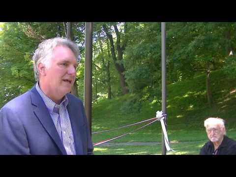 Cleveland Cultural Gardens flagpole dedication - Chris Ronayne