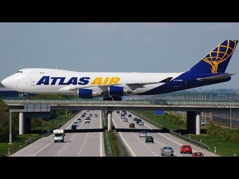 Runway Over The Highway at Leipzig/Halle Airport in Germany