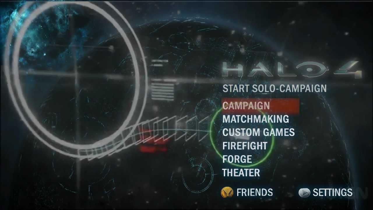 Halo 4 Main Menu - Arrival