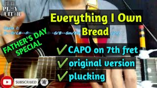 Everything I Own by Bread original version guitar tutorial