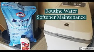Routine Water Softener Maintenance (when/how to refill with SALT and using iron RUST OUT)