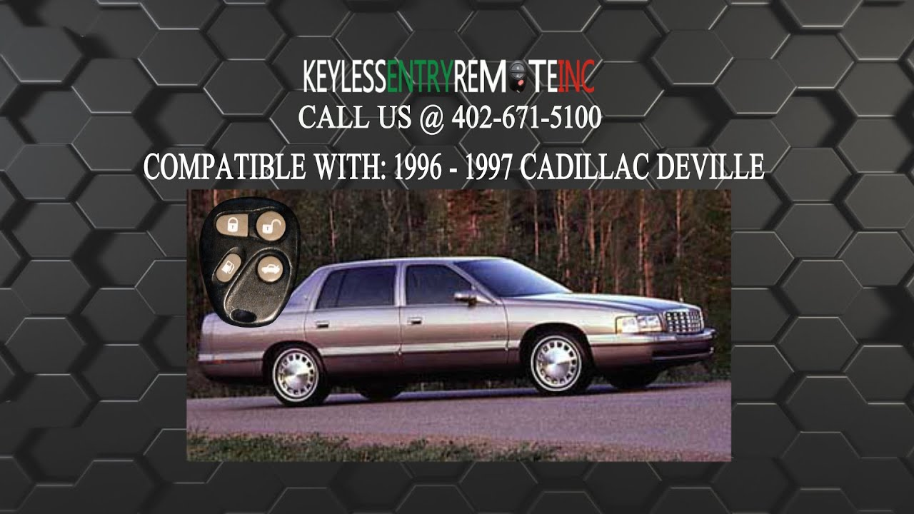 how to replace cadillac deville key fob battery 1996 1997 [ 1920 x 1080 Pixel ]
