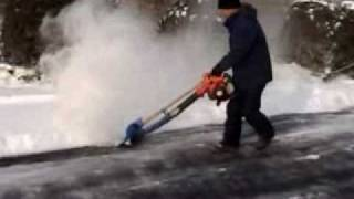 Snow Blowing with Air Jet Shovel