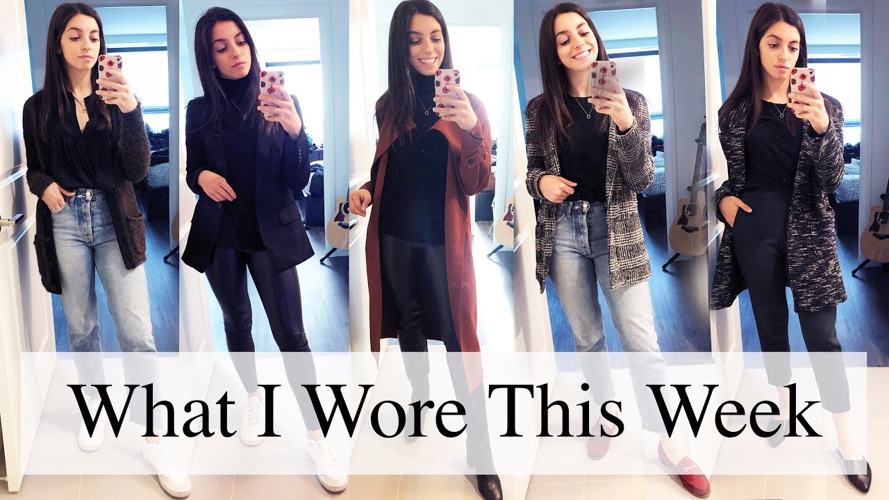 [VIDEO] - What I Wore This Week   Transitional Fall Outfit Ideas ft. Aritzia 4