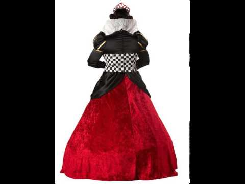 theatrical quality queen of hearts adult womens plus size costume
