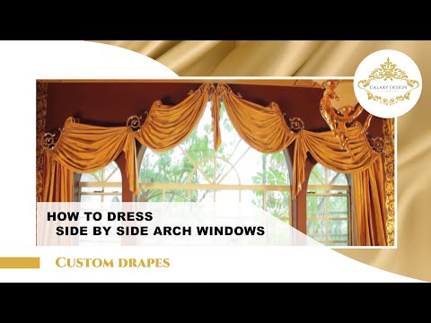 Video #25: Stunning Arched Window Treatments and Extra Long Curtains in Diamond Bar