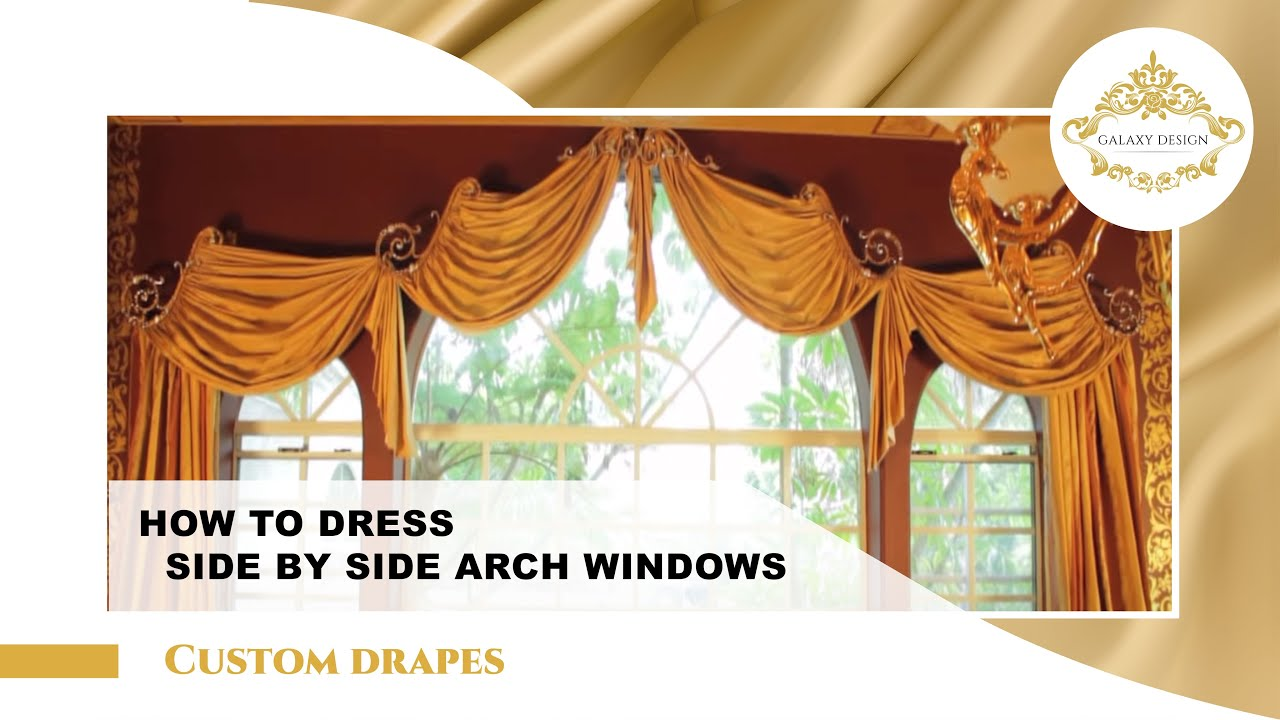 25 Stunning Arched Window Treatments And Extra Long Curtains In Diamond Bar You