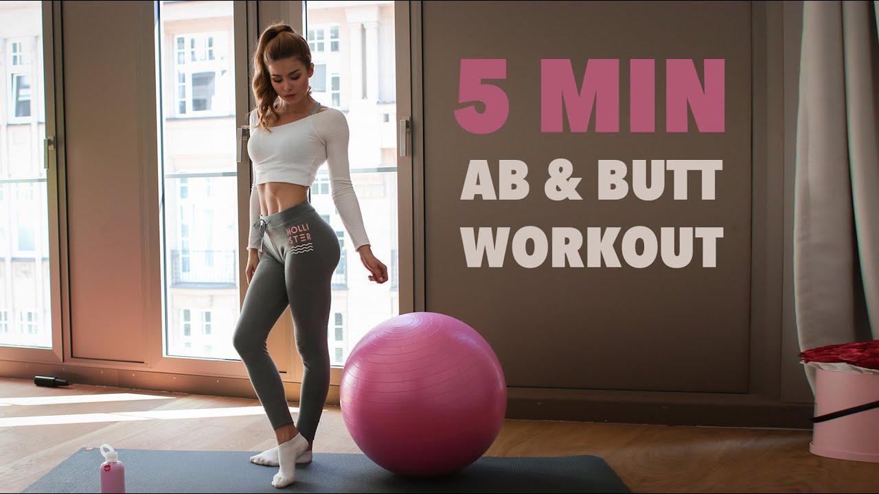 5MIN BOOTY & AB WORKOUT // Yoga Ball | Pamela RF - YouTube