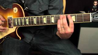 "Blues Guitar Lessons - Freddie King, SRV, Jeff Beck, ""Going Down"" Gibson Les Paul"