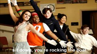 Download Sit down you're rocking the boat - glee cast MP3 song and Music Video