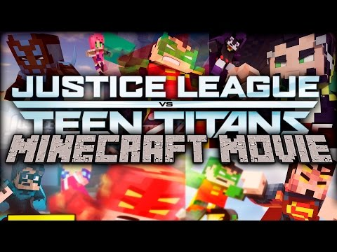 Minecraft Movies: Justice League vs Teen Titans The Movie! [1 Hour Movie Animation]
