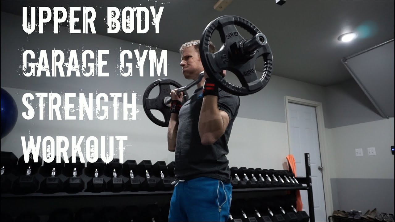 Upper body garage gym chest arms strength workout baltimore