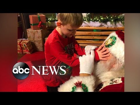 Kramer In The Morning - A mom and her blind son's magical moment with Santa