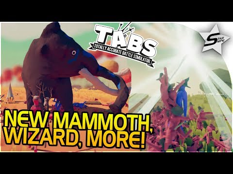 TABS NEW UPDATE - NEW UNITS, CAMPAIGN, FACTIONS - MAMMOTH, WIZARD, STONE AGE, +MORE! - TABS Gameplay