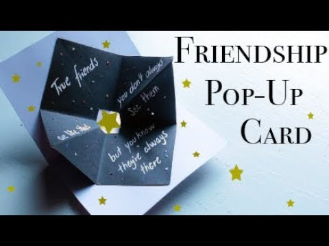 Friendship pop-up card - EASY DIY