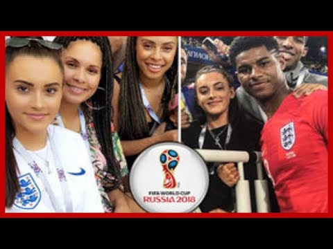 Marcus Rashford girlfriend  Lucia Loi supports beau in England shirt before  Croatia clash ee1f93cd8