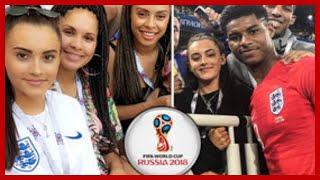 Marcus Rashford girlfriend: Lucia Loi supports beau in England shirt before Croatia clash
