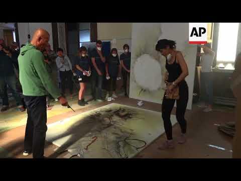 Artist brings explosive works to Prado Museum