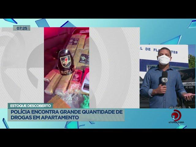 Estoque  Descoberto: Policia encontra grande quantidade de drogas em apartamento