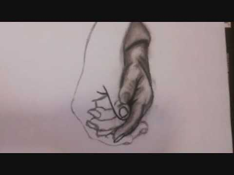 How to draw a holding hands  Como dibujar manos enlazadas  YouTube