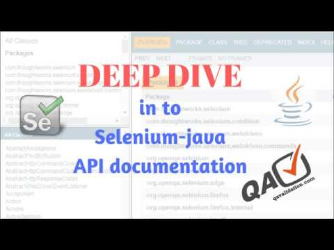 Deep Dive Into Selenium-java Api Documentation