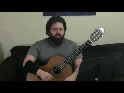 Fernando Sor: Exercise No 1 (Andante) from 24 Exercises, Op. 35 and Classical Guitar Lesson
