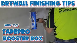 Easier Finishing with the Tapepro Booster Box Drywall Flat Box