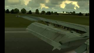 [HD] British Airways 737-300 Landing-FS2004