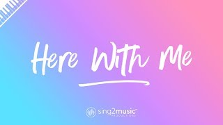 Here With Me (Piano Karaoke Instrumental) Marshmello & CHVRCHES