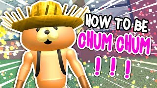 HOW TO BE CHUM CHUM THE BEAR IN ROBLOXIAN HIGHSCHOOL!!