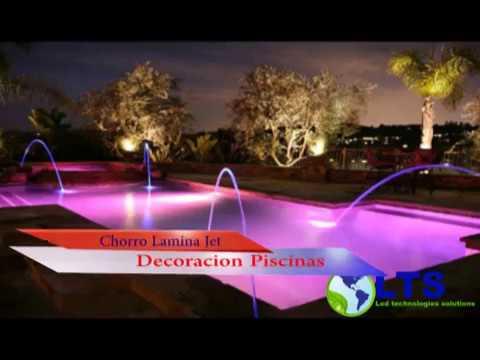 Lts chorros iluminacion led para piscinas laminar jet for Chorros para piscinas