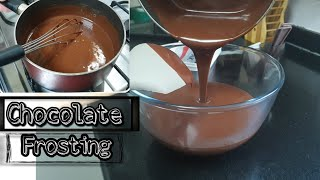 How to make Chocolate frosting  Simple and easy recipe