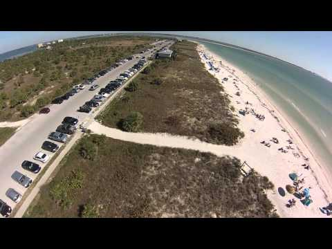 Aerial View of Honeymoon Island Beach and State Park