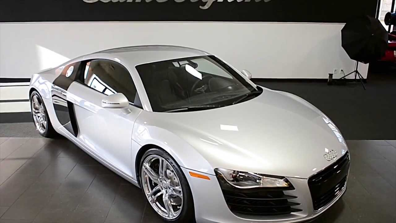 2009 audi r8 v8 ice silver metallic lt0595 youtube. Black Bedroom Furniture Sets. Home Design Ideas