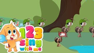 The Ants go marching | 123SingWithMe Nursery Rhymes With Lyrics | Kids songs | Songs Children