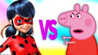 ЛЕДИ БАГ И СУПЕР КОТ VS СВИНКА ПЕППА | СУПЕР РЭП БИТВА |Miraculous Ladybug ПРОТИВ Peppa Pig for kids
