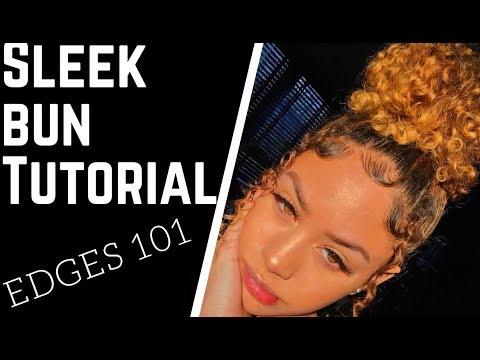 How To Sleek Bun Amp Edges 101 Tutorial Amelia Mon 233 T