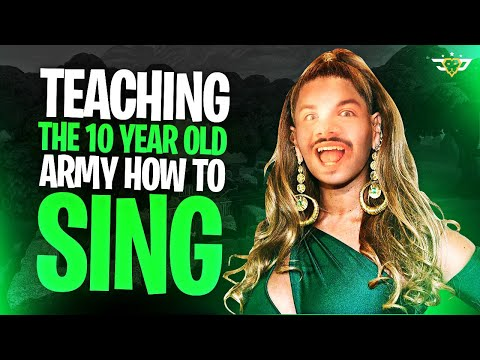 TEACHING THE 10 YEAR OLD ARMY TO SING! With Connor and Dr. Wubblekins! (Fortnite: Battle Royale)
