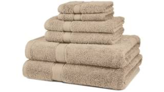 Fade-Resistant Cotton 6-Piece Towel Set, Navy Blue