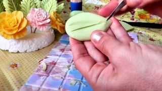Вырезаем листочки из мыла. Заготовки  для будующего букетика. Видео-урок №1.