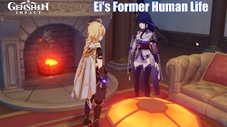 Ei talks about her Human Life before Godhood - Genshin Impact