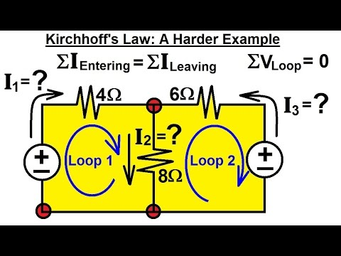 Electrical Engineering: Basic Laws (12 of 28) Kirchhoff's Laws: A Harder