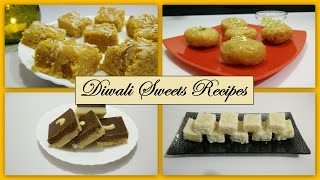 Diwali Sweets Recipe in Hindi | Mohanthal | Coconut Barfi | Mawa Chocolate Barfi | Balushahi