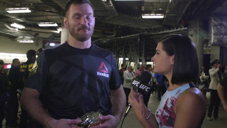 UFC 211: Stipe Miocic Backstage Interview
