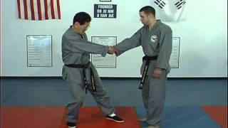Hapkito Cross Hand Wrist Grab Techniques 1 thru 4, Ji Han Jae
